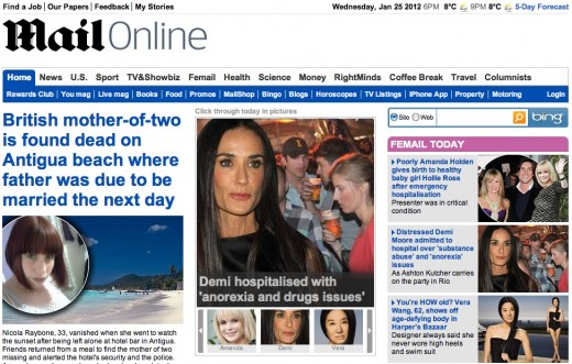 Mail Online 520x331 The Daily Mail is now the most popular newspaper website in the world