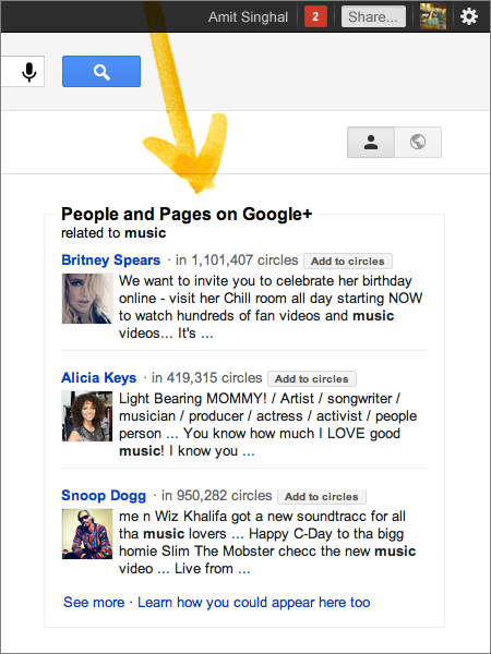 People and Pages Google Search just got whole lot more social, with Google+ features and more