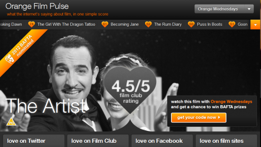 PulseOrange 520x292 Orange UK launches 'Film Pulse' to garner fans sentiment from across the social sphere