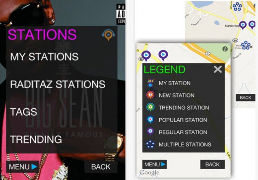 Raditaz for Android and iOS 520x364 Raditaz is Pandora Radio turned up to 11 with 13 million songs and more for free