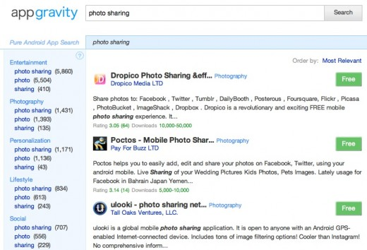 Screen Shot 2012 01 01 at 11.37.12 520x354 Appgravity is like a better Google Search for Android apps