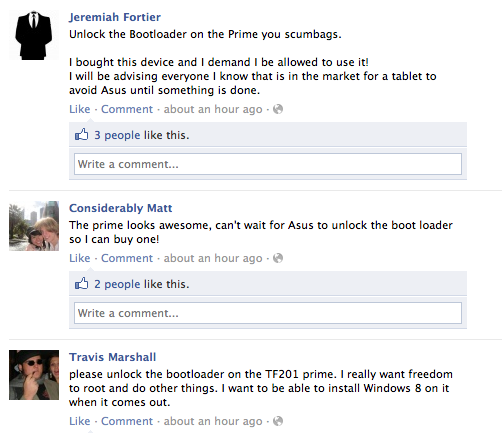 Screen Shot 2012 01 02 at 08.05.10 Asus faces customer backlash over Transformer Primes locked bootloader