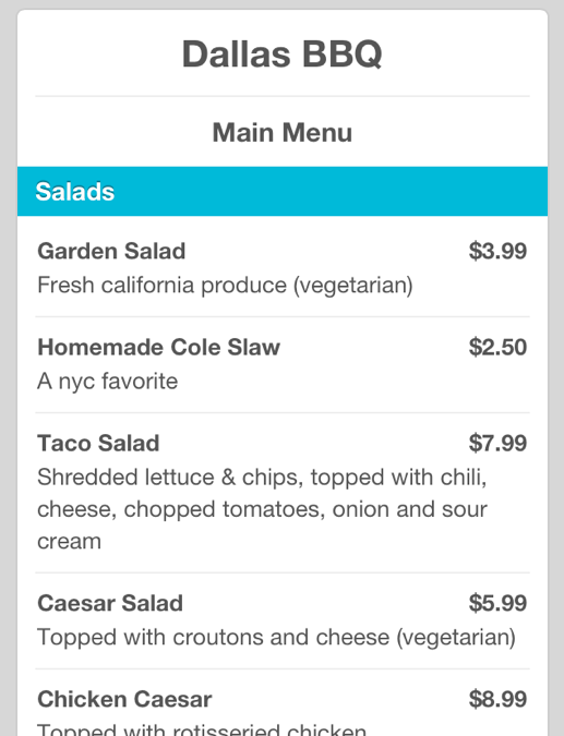 Screen shot 2012 01 17 at 8.41.05 PM 1 Foursquare now displays pricing menus powered by SinglePlatform
