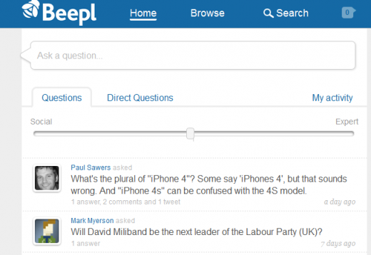 Screenshot 11 520x358 Beepl bats off Quora comparisons to launch its smart, social Q&A platform