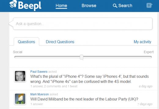 Screenshot 11 520x358 Beepl bats off Quora comparisons to launch its smart, social Q&A platform