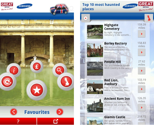 Screenshot 22 VisitBritain launches 'Best of Britain' Android app with Samsung, but with limited availability