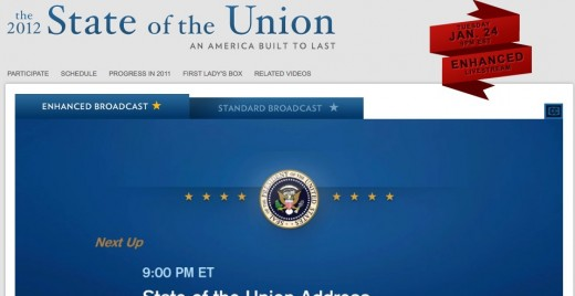 State of the Union 2012 The White House 1 1 520x268 Tonights Presidential SOTU will be the most interactive ever. Heres how you can be heard