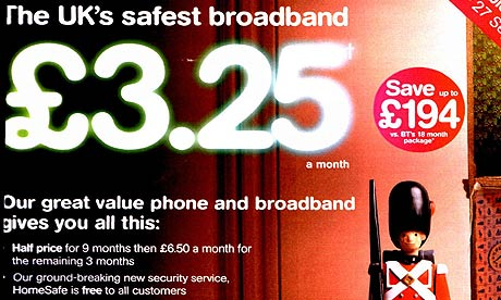 TT UK ISP TalkTalk ordered to curb safest broadband advertising claims