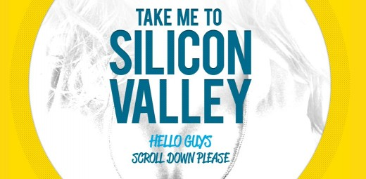 Take me to Silicon Valley 520x255 Gutsy web designer launches Take Me to Silicon Valley as his resume
