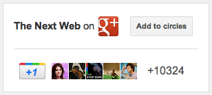TheNextWeb badge on Googleplus Google introduces new aesthetic options for Google+ badges
