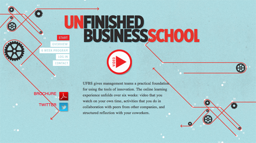 Unfinished Business School 9 Excellent examples of scrolling websites for designers