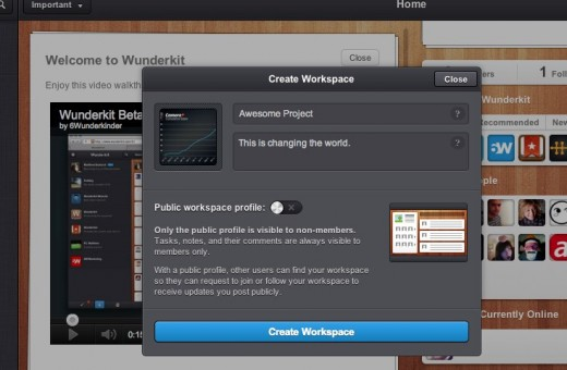 Wunderkit 520x340 An early look at Wunderkit shows that productivity can be social