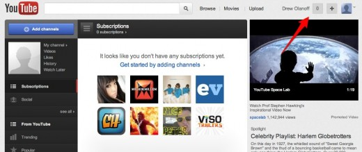 YouTube Broadcast Yourself. 1 1 520x219 Deeper Google+ integration starts showing up on YouTube