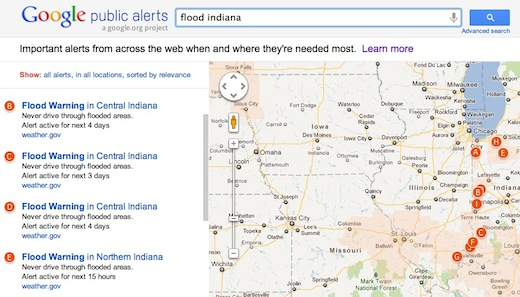 google public alerts flood Google launches Public Alerts, providing users with emergency and public safety messages