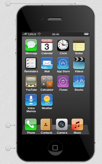 iPhone 4 in pure CSS3 This jaw dropping rendering of an iPhone 4 was written completely in CSS3