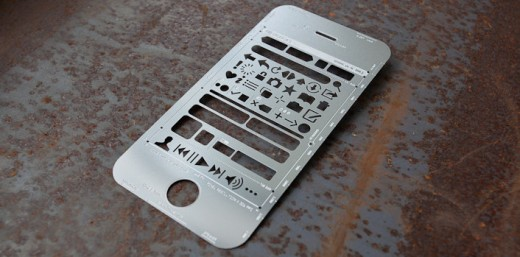 iPhone stencil 2 520x257 Wireframe your website on paper with these awesome smartphone and Web UI stencils