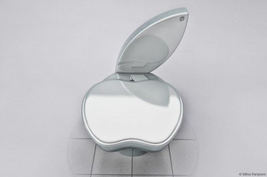 the ipoo toilet for the true apple fan. Black Bedroom Furniture Sets. Home Design Ideas