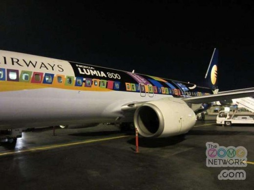 jetairwayslumiawtmk 520x390 Nokia paints a plane in India with the Lumia 800 brush   and its heinous