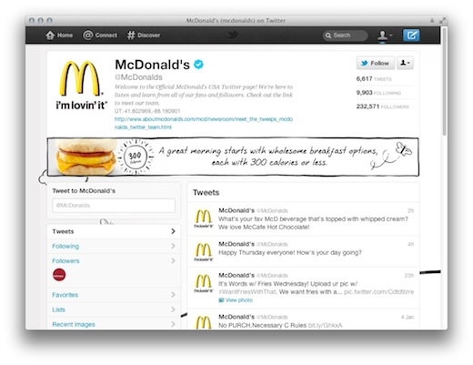 mcds Twitter brand pages only have one chance to make an impression. Here are some tips.