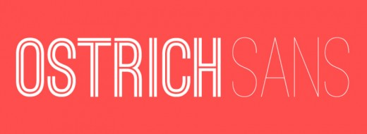 ostrich sans 11 520x190 9 Awesome free display typefaces you can download right now