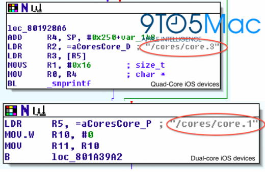 quadcore9to5mac 520x338 Code references in Apples iOS 5.1 Beta points to quad core iOS devices