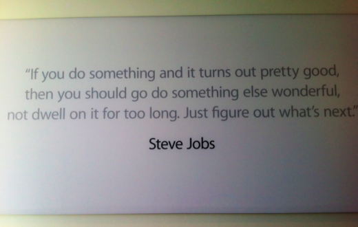 quote 520x330 How Apple remembers Steve Jobs at its Cupertino campus [Images]