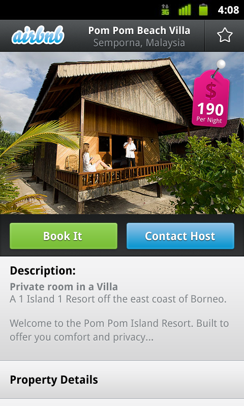 screenshot Airbnb makes room finding easier on Android mobile devices