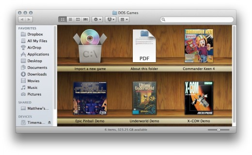 virtual shelf boxer 520x319 Boxer is an awesome free Mac app that lets you relive your DOS playing days
