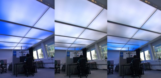 virtual sky in office 520x252 Now you can brighten up your dingy office with a virtual blue sky