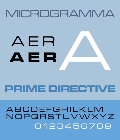 500px Microgramma Specimen Design Flashback: 10 Iconic typefaces born in the 1950s