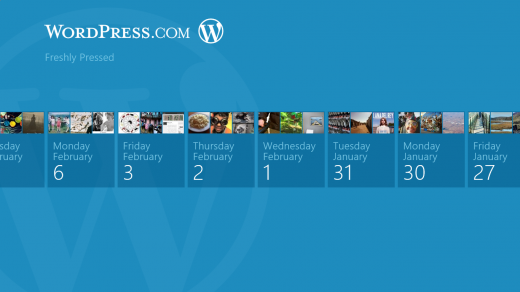51 520x292 WordPress.com app for Windows 8 launches with fresh Metro interface and Freshly Pressed content