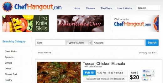 ChefHangout.com Cooking Classes via Google Hangouts 520x266 ChefHangout is a genius use of Google+ Hangouts and could actually make money