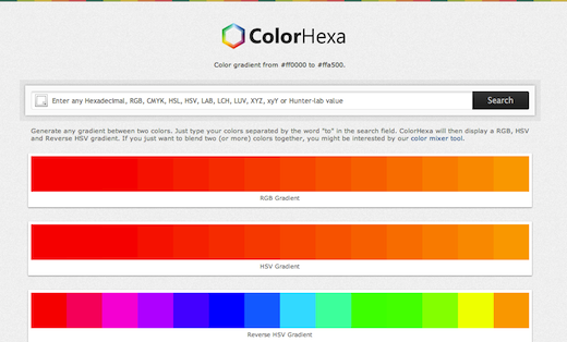 ColorHexa ColorHexa is a color encyclopedia, with CSS gradients, blends, schemes and more