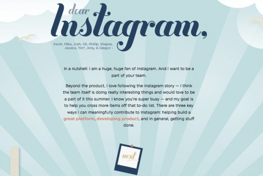 Dear Instagram With Love Alice 520x349 Self professed photonerd publishes open letter in hopes of being hired by Instagram