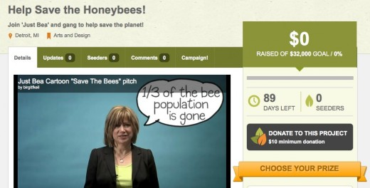 GreenUnite Help Save the Honeybees by Birgit 1 520x264 GreenUnite aims to crowdfund projects that can help save the Earth