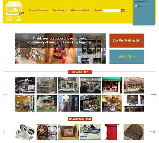Little Independent Little Independent: An online marketplace for brick and mortar stores