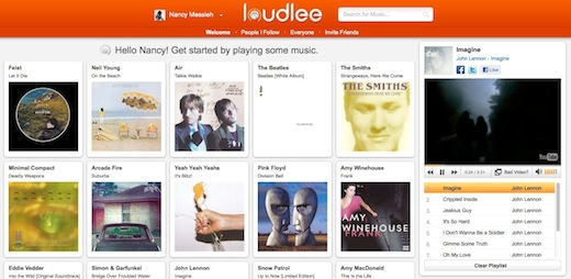 Loudlee Home Loudlee lets you create an online library of your favourite music using YouTube [Invites]