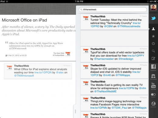 Photo Feb 21 7 56 08 PM 520x390 Storify launches a slick iPad app to open its story building service to a new audience