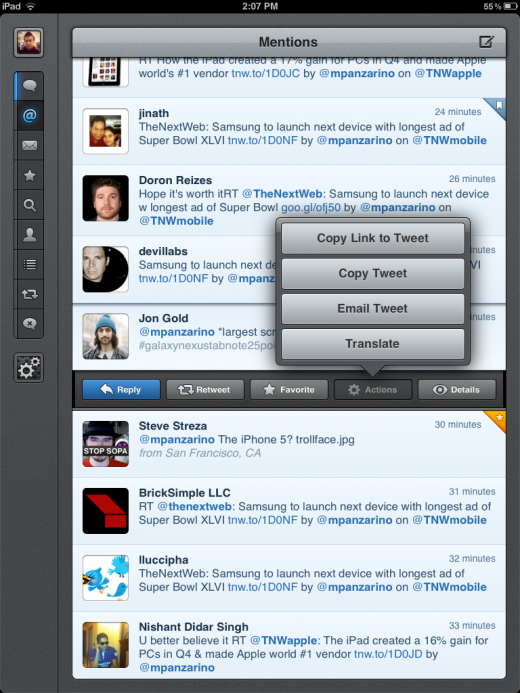 Photo Jan 30 2 07 21 PM 520x693 Tweetbot for iPad is a classic Twitter experience with a speedy gesture focused interface