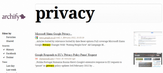 Privacy 520x235 Archify: Your own personal Web browsing archive [Invites]