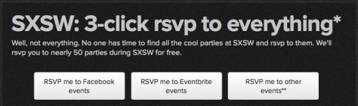 SXSW Parties WillCall 1 520x154 WillCall takes the hassle out of SXSW by letting you RSVP for 50 parties at once