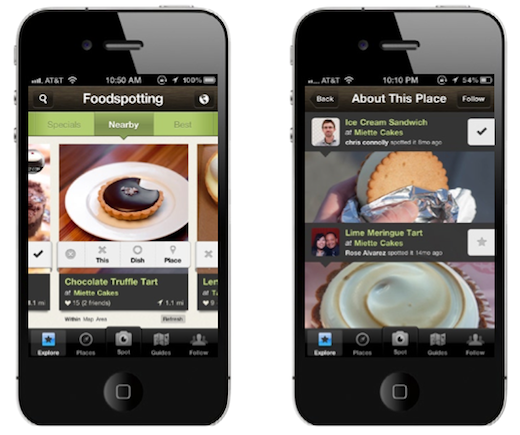 Screen Shot 2012 02 01 at 9.57.39 AM1 Foodspotting relaunches as a discovery app for finding places to eat, rivaling Yelp