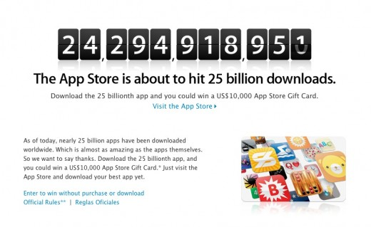 Screen Shot 2012 02 17 at 9.07.40 AM 520x319 Apple celebrates App Store countdown to 25B downloads with $10,000 prize