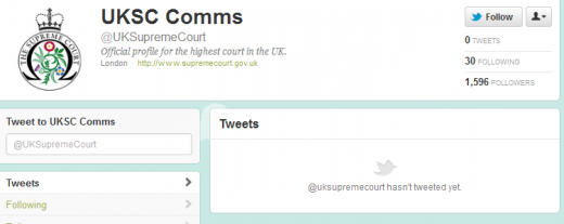 Screenshot 2 520x207 The UKs highest court launches a Twitter account to broadcast its latest rulings