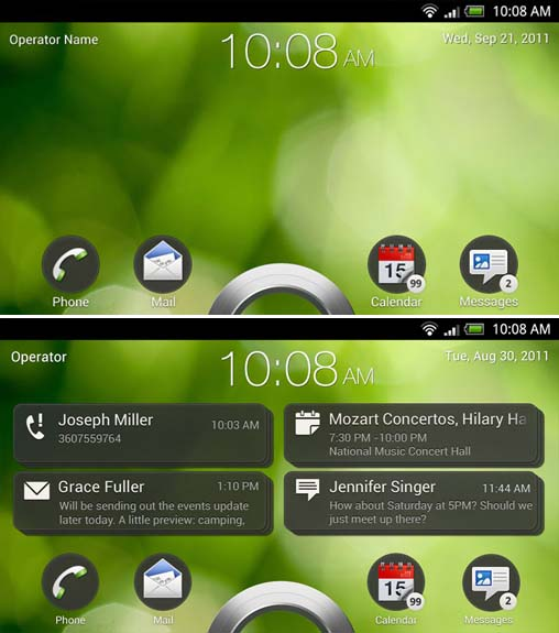 A look at HTCs upcoming Ice Cream Sandwich and Sense 4.0 designs