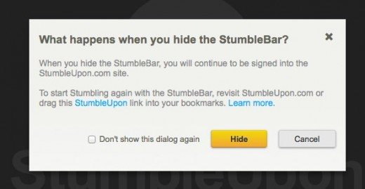 Sistine Chapel StumbleUpon 520x269 StumbleUpon tweaks its new redesign to include a hide button for the StumbleBar