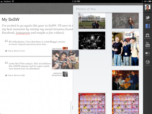 Storify iPad 2 520x390 Storify launches a slick iPad app to open its story building service to a new audience