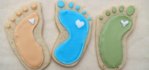 baby feet cookies by nikki1201
