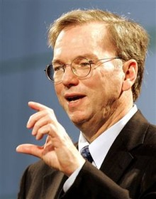 eric schmidt 220x280 An information paradox: How Googles new privacy policy may harm our discovery process