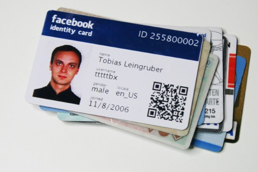 fb id card 740 520x346 This guy is getting a jump on the future by creating his own Facebook ID cards